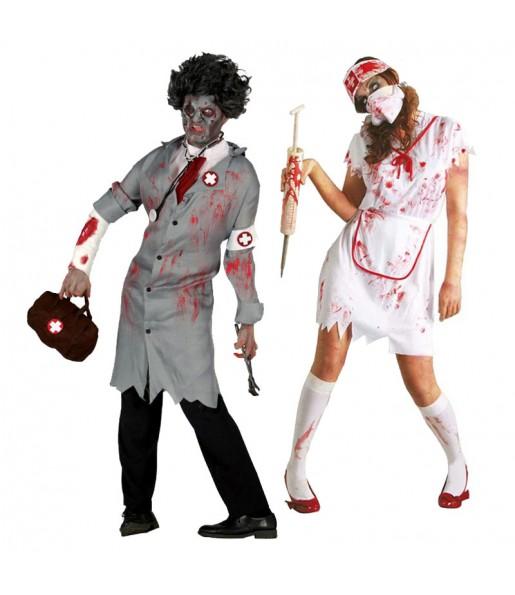 Déguisements Docteur et Infirmière Zombies