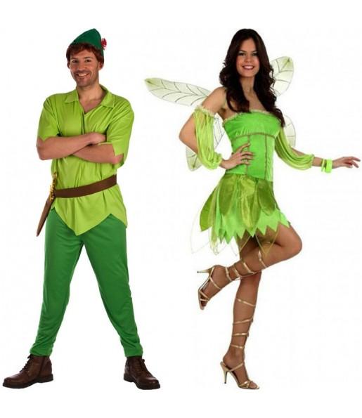 Déguisements Peter Pan et Fée Clochette