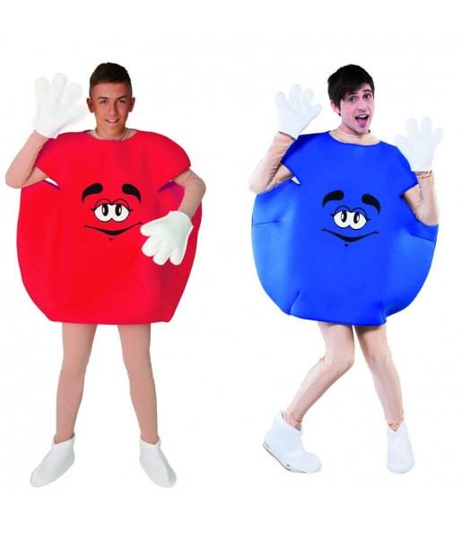 Déguisements Bonbons - Rouge et Bleu