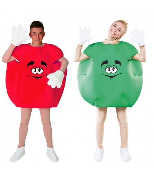 Déguisements Bonbons - Rouge et Vert