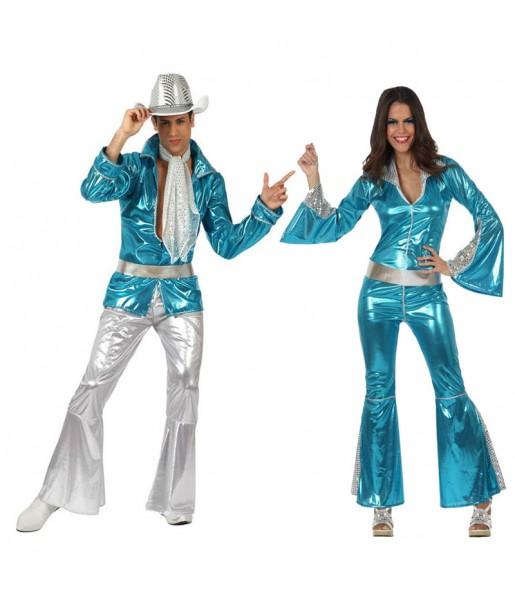 Déguisements Disco Bleus