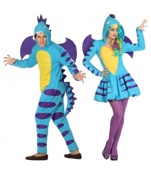 Déguisements Dragons Bleus
