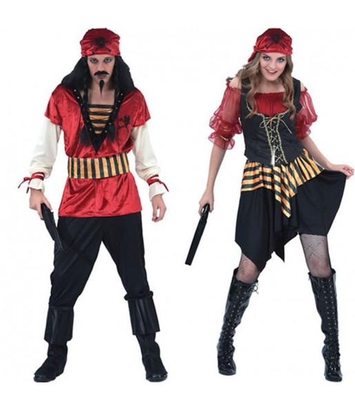 Déguisements Pirates Rouges