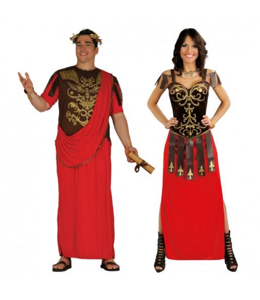 Déguisements Sénateurs Romains Rouges
