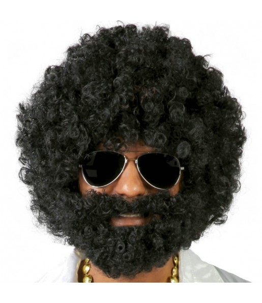 Perruque Afro avec barbe