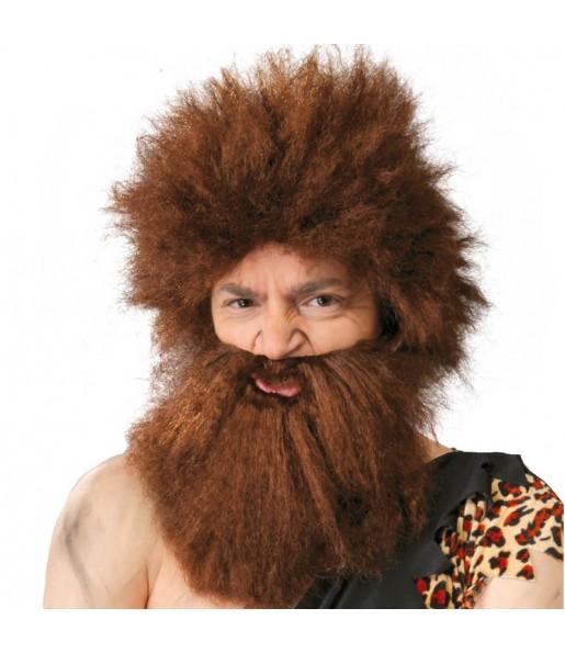 Perruque des Cavernes avec barbe