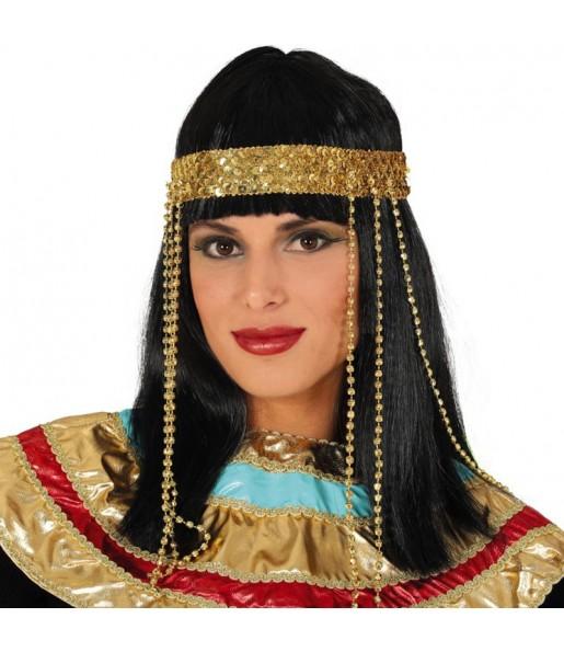 Perruque égyptienne avec bandeau