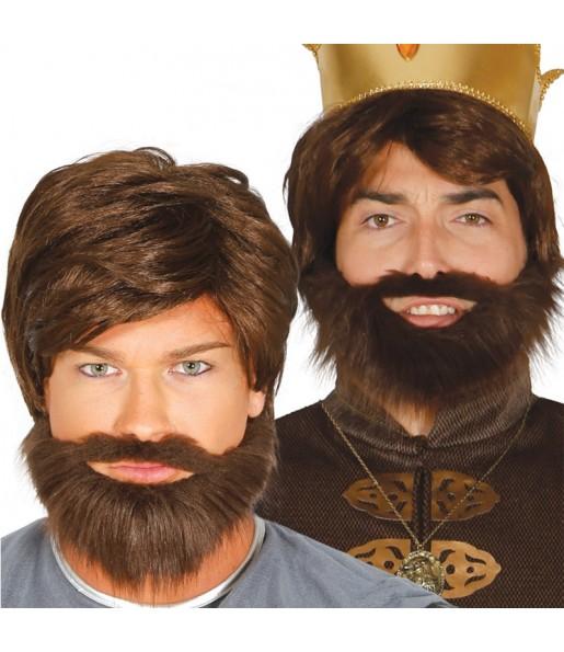 Perruque Médiévale avec barbe