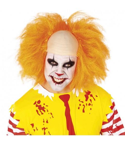 Perruque Clown maléfique orange