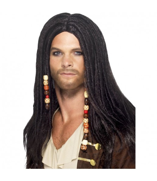 Perruque Pirate avec dreadlocks