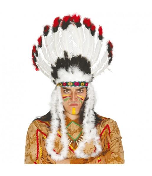 Coiffe Chef Indien à plumes