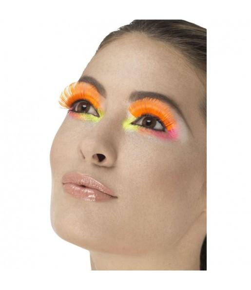 Faux cils Orange Fluo