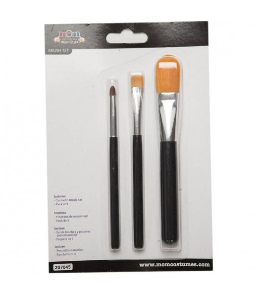 Kit 3 Pinceaux Maquillage