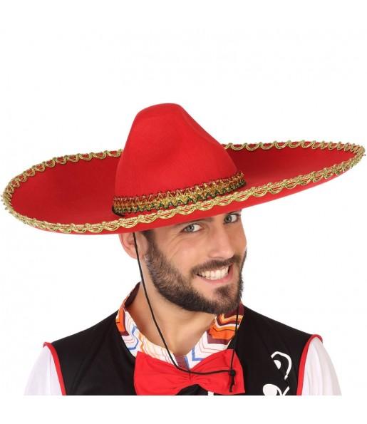 Chapeau Mariachi mexicain rouge