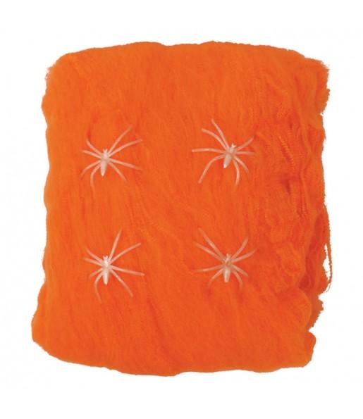 Toile d'araignée orange 60 grammes