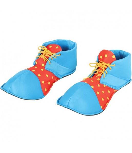 Chaussures Clown Bleues et Rouges