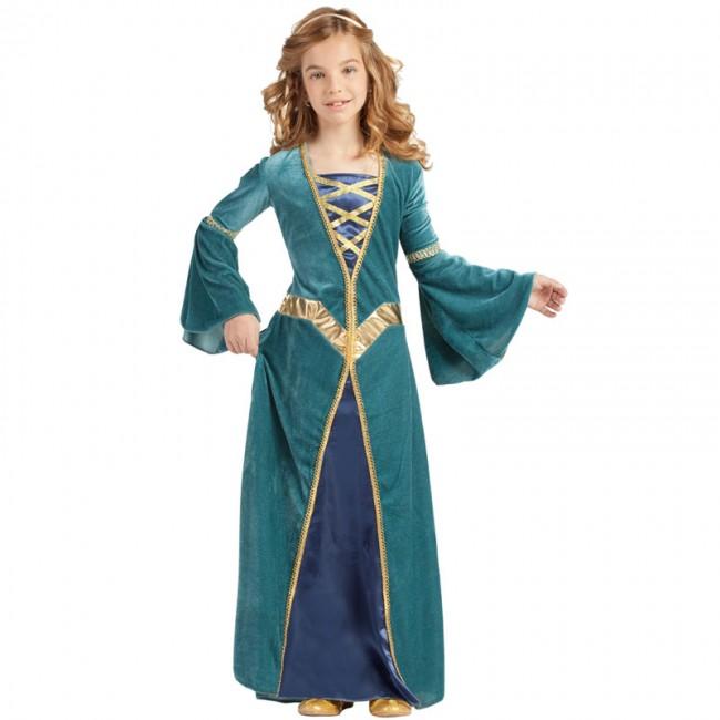 Moyen Âge Princesse Enfants Costume Princesse Robe Costume Enfants Fille