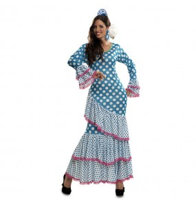 Déguisement Flamenco (Sévillane) Bleu femme