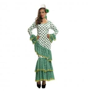 Déguisement Flamenco (Sévillane) Vert femme