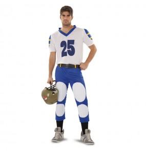 Déguisement Jouer Rugby Bleu adulte