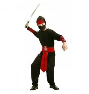 Déguisement Ninja Noir et Rouge