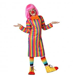 Déguisement Clown Rayée Multicolore pour fille