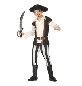 Déguisement Pirate Marron Enfant