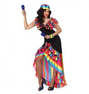 Déguisement Danseuse de Rumba Multicolore femme