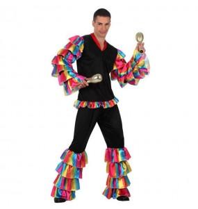 Déguisement Danseur de Rumba Multicolore adulte