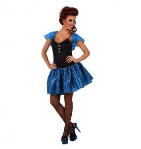 Déguisement Femme des Années 60 Bleu