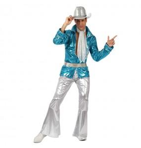 Déguisement Disco bleu pour homme