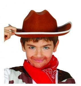 Chapeau Cow Boy Marron pour enfants