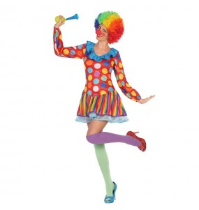 Déguisement Clown Multicolore Femme