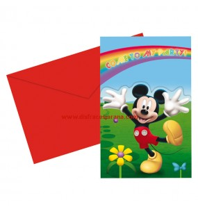 Invitations Mickey Colours - Disney™