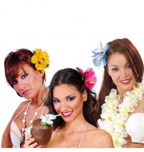 Fleur hawaïenne avec pince