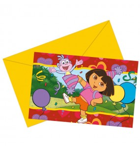 Invitations Dora l'Exploratrice - Nickelodeon™