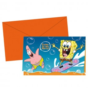 Invitations Bob l'Éponge - Nickelodeon™