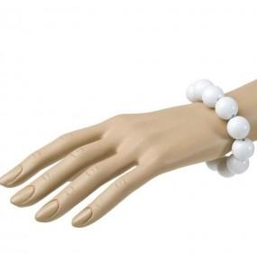 Bracelet avec Boules Blanches