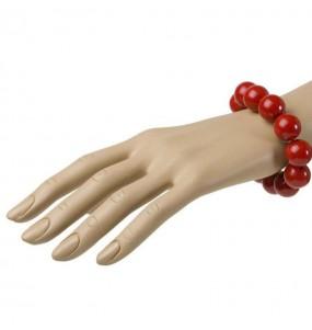 Bracelet avec Boules Rouges