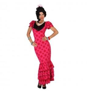 Déguisement Flamenco Rose (Sévillane)