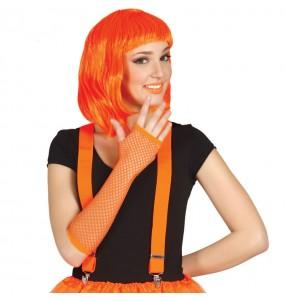 Gants Résille Fluo – Orange