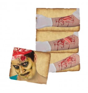 Cicatrices avec adhésif