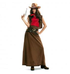 Déguisement Cowgirl Marron femme