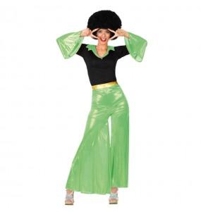 Déguisement Disco Femme Verte