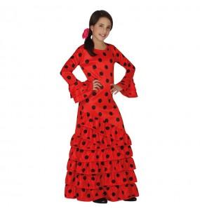 Déguisement Flamenco Rouge Enfant