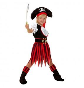 Déguisement Pirate à rayures pour fille