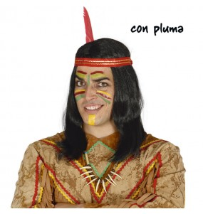 Perruque Indien avec plume