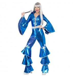 Déguisement Disco Dancing Bleu femme