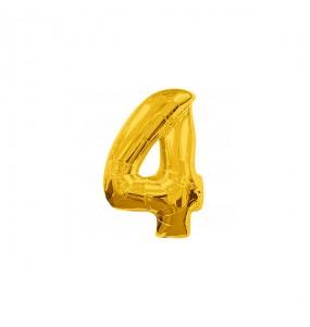 Ballon chiffre 4 - Or