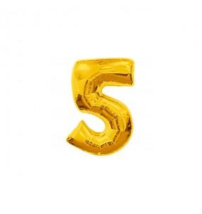 Ballon chiffre 5 - Or